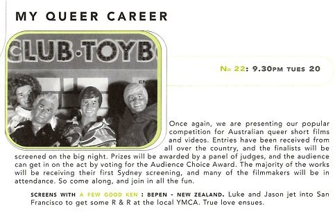 Queer Screen Mardi Gras Film Festival My Queer Career 1996