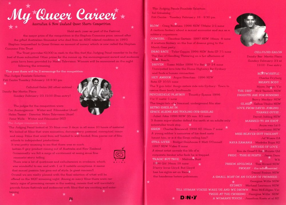 Queer Screen Mardi Gras Film Festival My Queer Career 1997