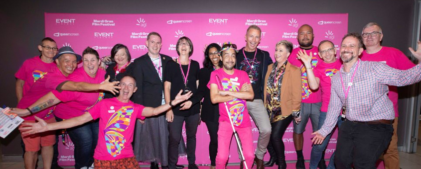 The Queer Screen team at MGFF20