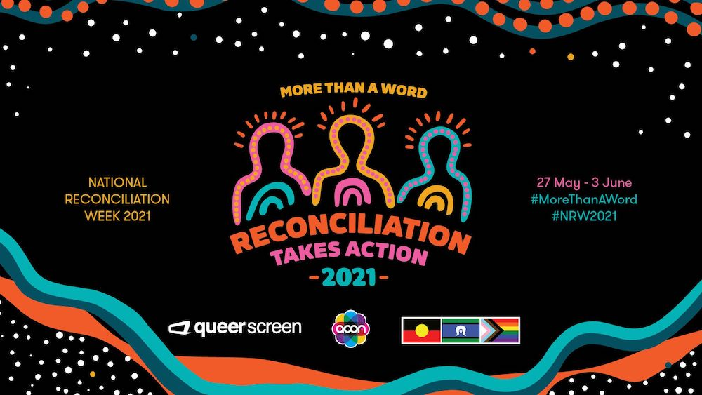 Graphic branding for National Reconciliation Week 2021