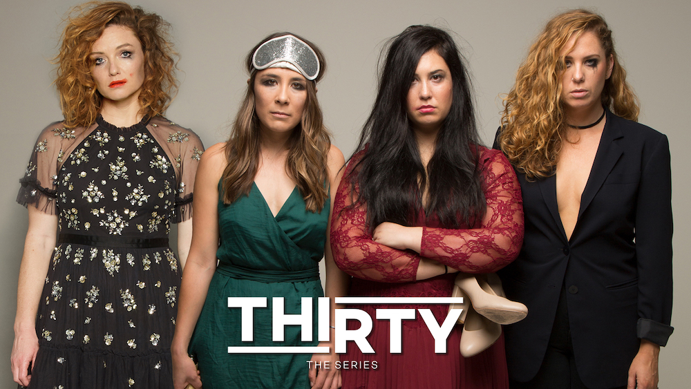 image of the four main cast members as seen in the series: Thirty