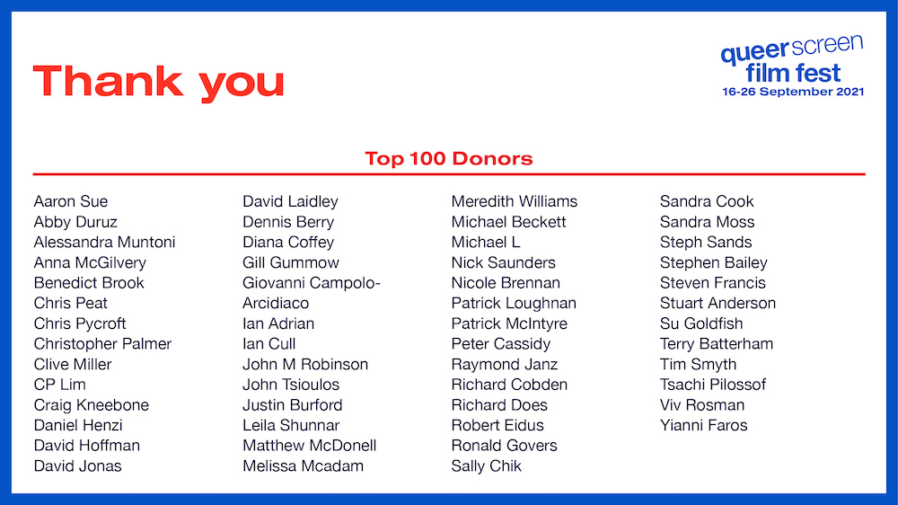 Thank You Top 100 Donors